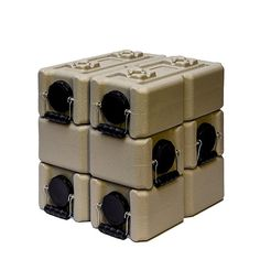 WaterBrick Tan Water Storage Container 6 pack 35 Gallon BPA Free Portable and Stackable -- For more information, visit image link. (This is an affiliate link)
