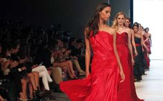 Models wear creations by Peruvian designer Fatima Arrieta during the Peru Moda 2012 fashion week in Lima April 24, 2012.