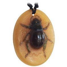 Art Deco French Almeric Walter Glass Pate de Verre Cicada Beetle Pendant