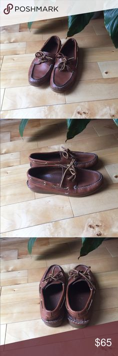 SPERRY AUTHENTIC ORIGINAL 2-EYE BOAT SHOE Brand new. Sahara brown leather. Originally men's style but can be worn as a women's size 6. Sperry Top-Sider Shoes Flats & Loafers