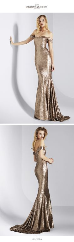 Radiant and shimmering. This spectacular cocktail dress that creates a sleek silhouette traces your curves with the shimmer and lustre of the sequined fabric. The sweetheart neckline and off-the-shoulder sleeves add that fresh and supremely feminine touch that will make you the center of attention.
