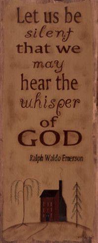 Let God do the talking...