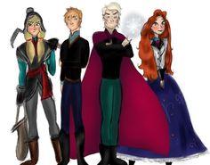 Art is a bit unusual but I like it!~ Gender-bent Frozen Characters by Eminaytor on deviantART