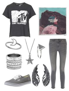 """""""everything is grey. his hair, his smoke, his dreams"""" by nerdtastical ❤ liked on Polyvore featuring мода, Topshop, MiH Jeans, Vans, Henri Bendel, True Rocks и Ichu"""