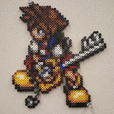 Sora Kingdom Hearts perler beads by Dimami Art