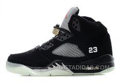 b87386fba290 Air Jordan 5 Glow In The Dark Black Silver Offres De Noël