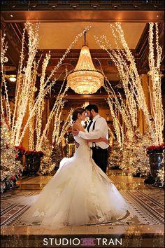 Incorporating Christmas Lights Into Your Wedding Decor
