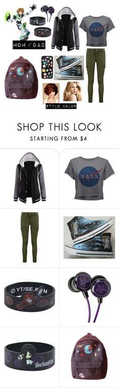 """""""Payton / ash pidges daughter"""" by gay-weeb-nerd ❤ liked on Polyvore featuring Boohoo, Converse, Sebastian Professional and Casetify"""