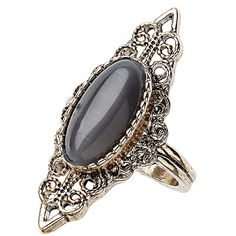 TOPSHOP Vintage Catseye Ring (53 BRL) ❤ liked on Polyvore featuring jewelry, rings, accessories, bijoux, grey, topshop rings, grey jewelry, vintage jewellery, vintage rings and topshop