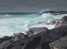 Frederick Judd Waugh (American, 1861-1940), Surf on the Roaring Main. Oil on canvas, 30 x 40 in.