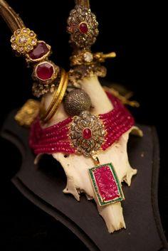 Jade Jagger's fine jewellery collection  Via Style-trail.com  The choker is gorgeous. Jewellery Rings, Stone Jewelry, Jewelry Watches, Jade Jagger, Refashion, Color Pop, Bracelet Watch, Trail, Oriental
