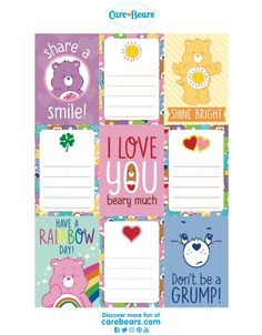 0fe51b889 Care Bear Tags, Care Bears, Gift Tags - Free Printable | DIY | Care ...
