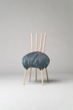 ARGH! Just say 'no' to yarn chairs. If you see a chair and it's covered in yarn, run! Run and never look back!