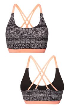 Primark - Monochrome Aztec Crop Top