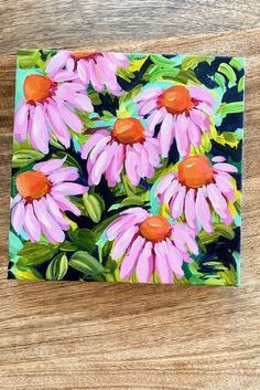 How to Paint Coneflowers with Acrylic Paint Step by Step | Patreon Exclusive Painting Video Tutorial — Elle Byers Art