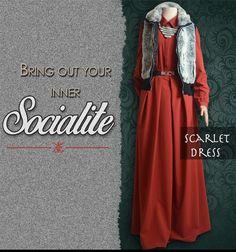 Scarlet dress look book