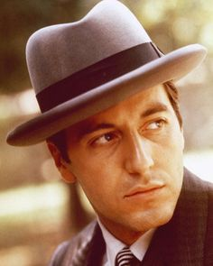 The Godfather- Al Paccino, he was a handsome man! One of my favorite actors of all time