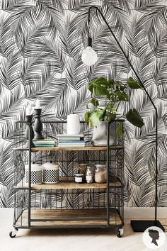 Livettes Monochrome Palm leaf wallpaper is available both in traditional and removable wallpaper materials. See the information below to choose the best for your project!  - REMOVABLE FABRIC WALLPAPER - * Self Adhesive * Matte Textile Wallpaper * PVC free * Washable * Removable * Fire resistant - B1/M1 fire rating * Easy to install and to remove * Printed with high quality eco-solvent inks * It is advised to apply from smooth to lightly textured surfaces * We suggest to apply the wallpap...