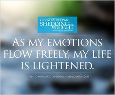 Welcome to Day 3 – Begin with Emotional Balance. #21daymeditation #choprameditation #deepakchopra #oprah #meditation #health #wellness #chopracenter
