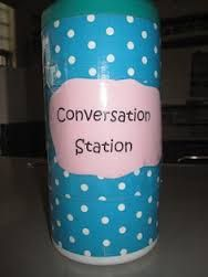 OBriens Classroom Connections: Conversation Station: An Anytime Oral Language Activity - check more here: conversational spanish classes Teaching French, Teaching Spanish, Teaching English, Teaching Reading, Communication Orale, Communication Activities, Speech Language Therapy, Speech And Language, Speech Therapy