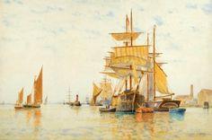 Frederick James Aldridge - In the harbour.jpg (1024×678)