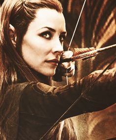 I like Tauriel because she's like a lot of aspects of Tolkien kaboodled into a person, which I think is cool.