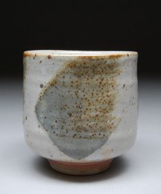 Handmade Stoneware Yunomi Tea Cup Glazed with Alberta by shyrabbit