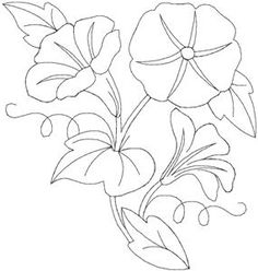 Petunias - Quilters Flower 27 Larger (HDFQ27C) Embroidery Design by Anita Goodesign