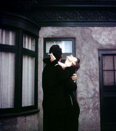 Dean Martin & Audrey Hepburn share a laugh on set of Sabrina,  1954