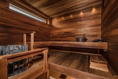 Moderni sauna, Etuovi.com Asunnot, 55e97d34e4b02889961857d6 - Etuovi.com Sisustus Portable Sauna, Finnish Sauna, Sauna Room, Spa Rooms, Truck Interior, Wellness Spa, Rustic Saunas, Home And Living, Sauna Ideas