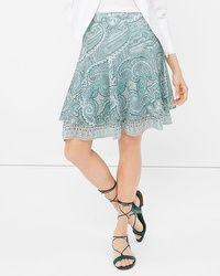 Paisley Print Flirty Skirt