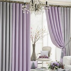 Awesome Inspiration Curtains Living Room Design With Purple Grey Curtain Living Room Design Idea
