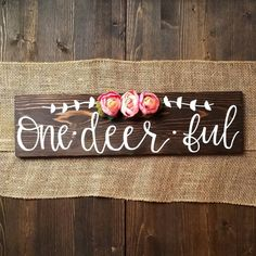 I've been trying to squeeze as much family time as I could into the past week before summer is over so that means I've been kinda MIA from… First Birthday Sign, 1st Birthday Party For Girls, Birthday Ideas, Birthday Signs, Unicorn Birthday, Oh Deer, 1st Birthdays, Creations, Bambi