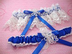 Royal Blue Garter Belt