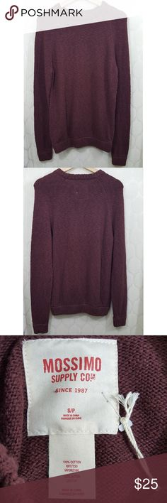 NWT Mossimo Cable Knit Sweater NWT Mossimo Cable Knit Sweater in Maroon. Size M. Smoke free home. Mossimo Supply Co Sweaters