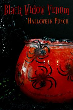 Black Widow Venom Halloween Punch | This wickedly delicious punch will have your little witches cackling for more! Everyone loves a good punch! This Hall
