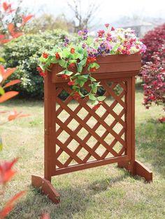 Convenience Concepts Raised Planter Box in Red Cedar