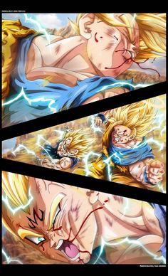 Goku Vs Majin Vegeta by Erushido on DeviantArt
