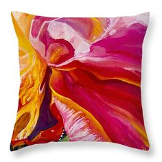 """pink rose underneath Throw Pillow 16"""" x 16"""""""