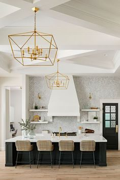 Well design white and black kitchen features three nuevo chi counter an interior design decorating and diy do it yourself lifestyle blog with solutioingenieria Gallery