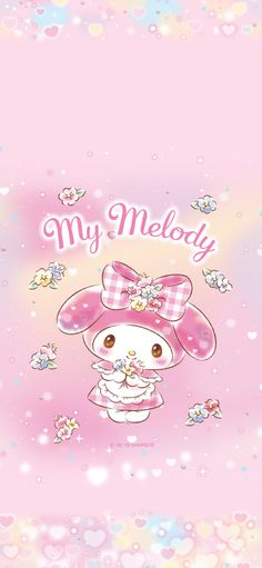 Lockscreens And Wallpapers My Melody Wallpaper, Sanrio Wallpaper, Wallpaper For Your Phone, Kawaii Wallpaper, Flower Wallpaper, My Melody Sanrio, Hello Kitty My Melody, Hello Kitty Backgrounds, Creative Instagram Stories