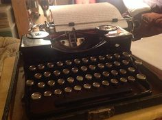 Today was a Sunday, so I had plenty of time for writing.  I realized that I had neglected to use Minerva, my beautiful Royal Portable Model O for quit some time since I've been using my desk model in the morning,  today I just wanted to hear her beautiful crunch once again!  Much as humans have different voices, typewriters have different crunches.  Today I wanted to hear the crisp crunch of Minerva :)