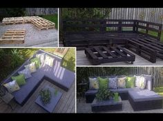 DIY pallet patio sectional