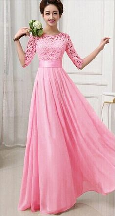 Elegant Hollow Flower Dinner Dress