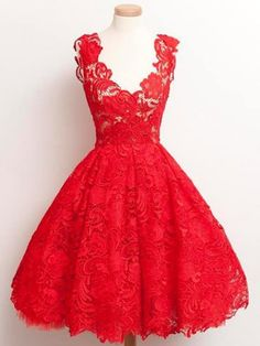 Details about Vintage 1950s Hi Lo Red Party Prom Dresses Formal ...