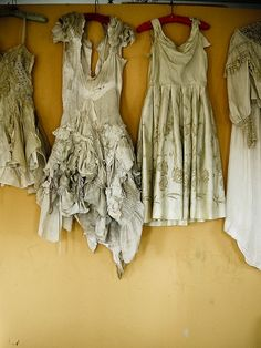 old dresses as zombie clothes!