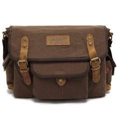 Original Style Designer Canvas Retro Men's Messenger Bag Crossbody Shoulder Bag Travel Camera Bags