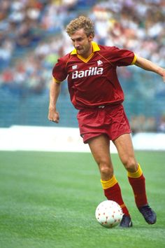 """Rudi Völler (Hanau, West Germany, 13 April 1960) – """"Vola, tedesco vola!"""" Rudi Völler. A brave and unselfish leader. From an unknown and questionable signing to a real Roma legend."""
