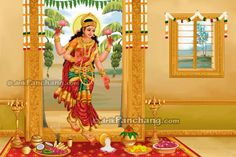welcoming Shri Lakshmi into home
