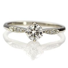 New York, NY Jewelry, engagement rings - Leigh Jay Nacht - Replica Edwardian Engagement Ring - 3312-05